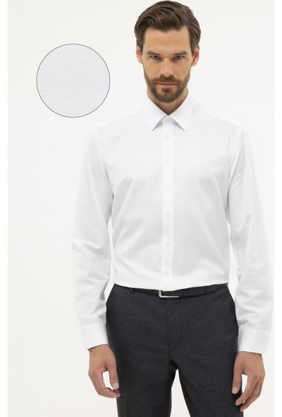 Pierre Cardin Erkek Slim Fit Armürlü Gömlek 50227479-Vr013