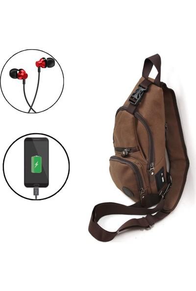 Kindfox Nwp 2213 USB Girişli Çapraz Çanta Bodybag