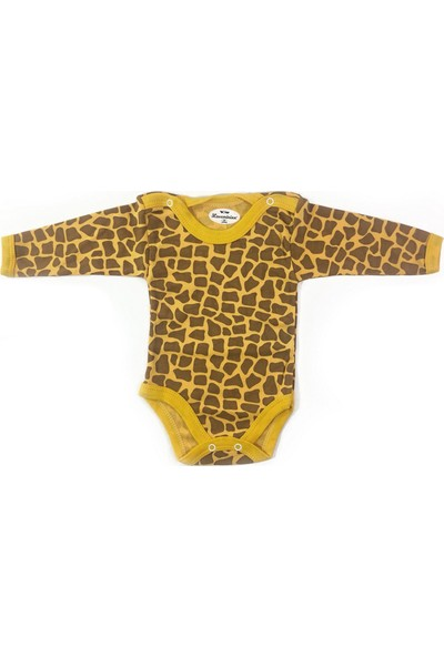 Loveminixx Zürafa Desenli Uzun Kollu Çıt Çıtlı Bebek Zıbın