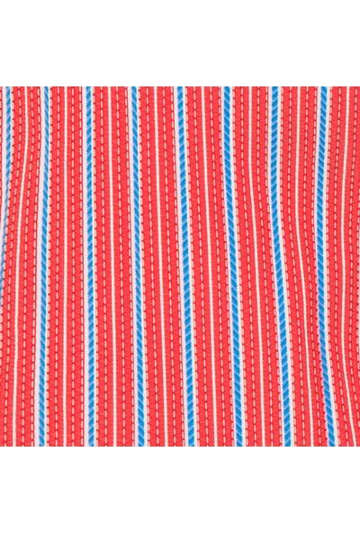 Shikoo Swimwear Kırmızı Beyaz Çizgili Bağcıklı Şort Mayo
