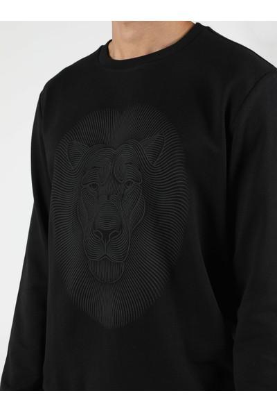 Colin'S Regular Fit Siyah Erkek Sweatshirt