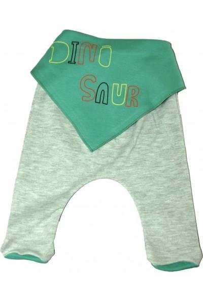 Dinosaur Nakışlı 5 Parça Bebek Yeşil Zıbın Takım