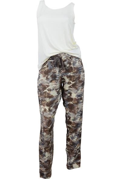 Kompedan Vienetta Plus 7122992213 Kadın Kalın Askılı Pijama Tk