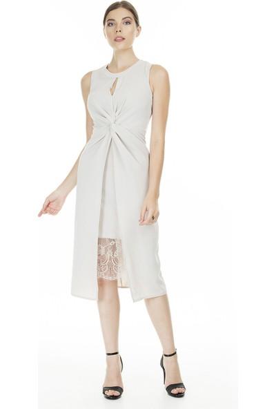 Ayhan Dantel Detaylı Elbise Kadın Elbise 04661343