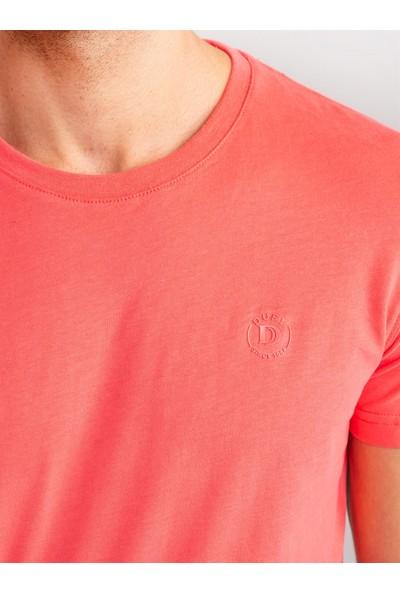 Dufy Mercan Pamuklu Fırçalı Süprem Erkek T-Shirt - Modern Fıt