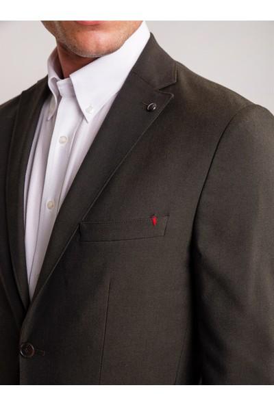Dufy Yeşil Düz Erkek Ceket - Slim Fit