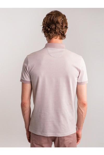 Dufy Lila Jakar Süprem Merserize Polo Yaka Erkek T-Shirt - Regular Fıt