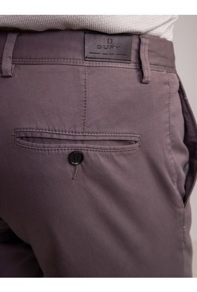 Dufy Antrasit Pamuk Likra Karışımlı Büyük Beden Erkek Pantolon - Battal