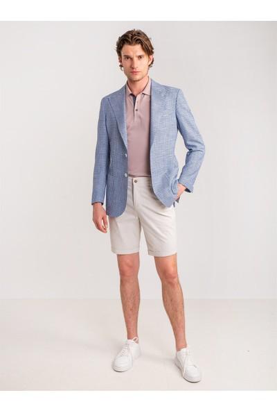 Dufy Taş Armür Pamuk Likra Karışım Erkek Short - Modern Fit