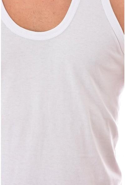 Seher 12 Adet 0001 Erkek Askılı Penye Atlet Beyaz