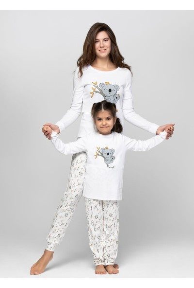 Just Basic L50005 Koala Anne Kız Pijama Takımı