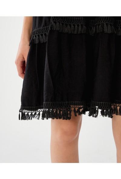 Decosa Paris Bohem Elbise Siyah