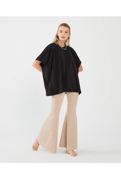 Decosa Paris Oversize Kadın Bluz Siyah
