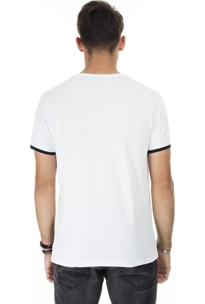 Buratti Baskılı Bisiklet Yaka Slim Fit T-Shirt Erkek T-Shirt 5412047