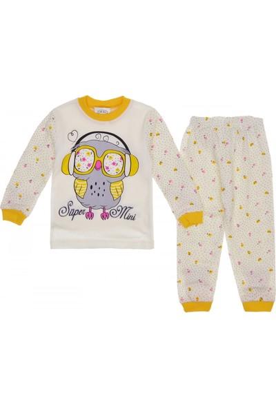 Süper Mini Baykuşlu Kız Pijama Takımı