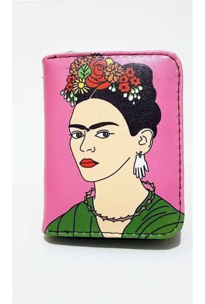 Gommeda Frida Baskılı Cüzdan Kartlık Gündelik Kullanım