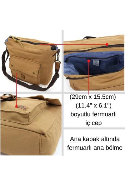 Old Cotton Cargo 7170 Branco Omuz Tablet Evrak Postacı Laptop Notebook Çantası