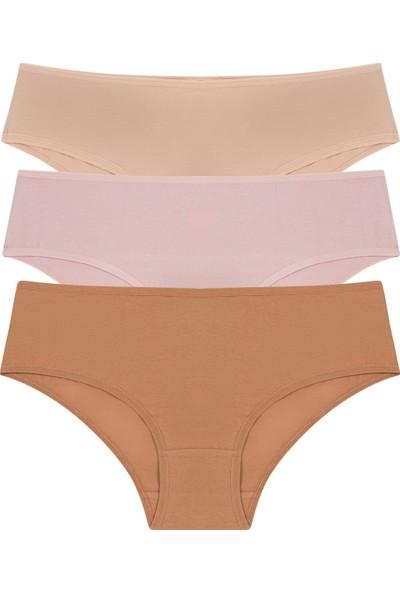 Penti Çok Renkli Cover Colors Perfect Nude 3lü Slip Külot