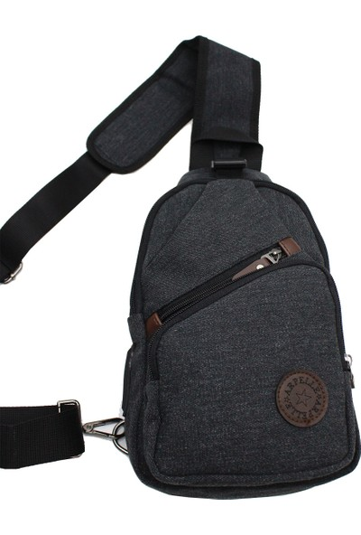 Arpelle 0018 New Body Bag USB Grişli Çanta Siyah
