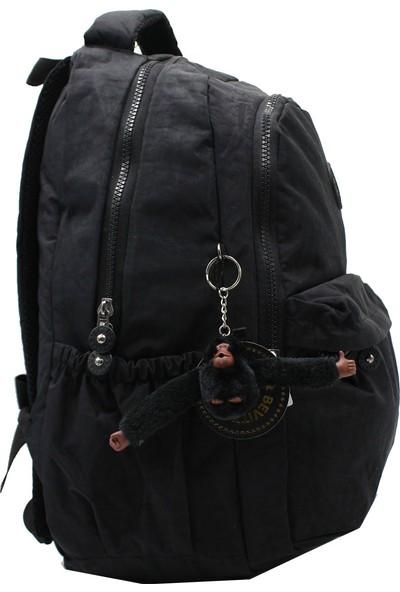 Bevitton 2200 Krinkıl Kumaş Sırt Çantası Siyah