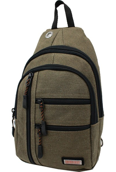 Seventeen 3473 Kanvas Body Bag Çapraz Çanta Haki