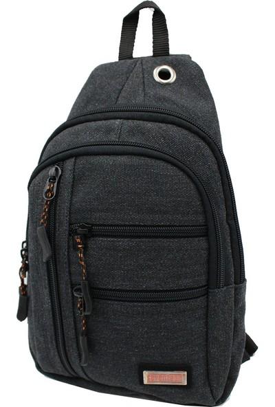 Seventeen 3473 Kanvas Body Bag Çapraz Çanta Siyah
