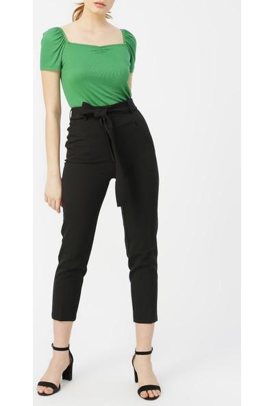 Random Kadın Beli Kuşaklı Klasik Pantolon