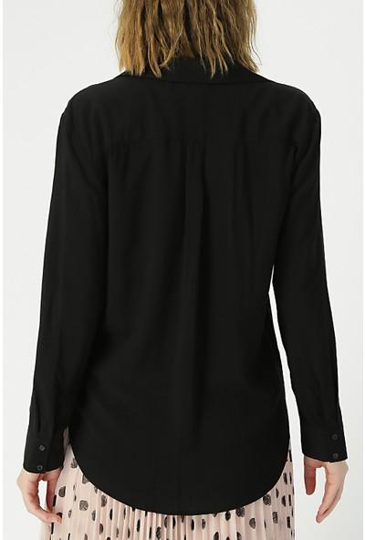 Random Kadın Uzun Kollu Klasik Gömlek