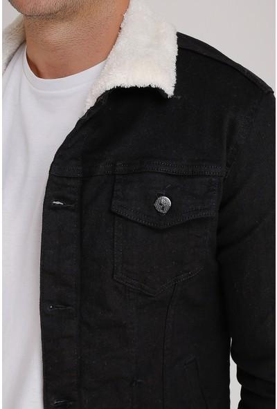Lee Jones Denim Kürklü Siyah Kot Ceket