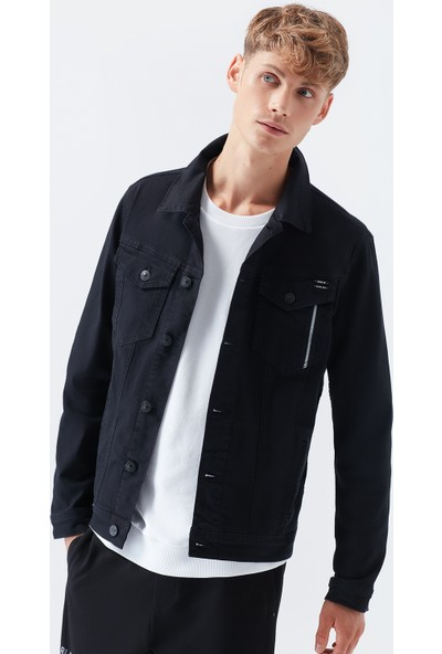 Mavi Erkek Frank Black Pro Zift Siyah Jean Ceket 0115231604