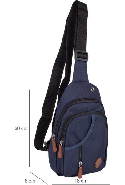 Bagacar 3474 Çapraz Göğüs Body Bag ve Sırt Çantası Lacivert