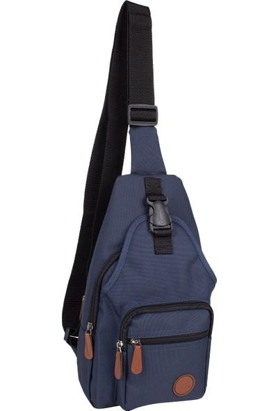 Bagacar 2213 Çapraz Göğüs Body Bag ve Sırt Çantası Mavi