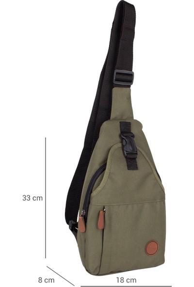 Bagacar 2212 Çapraz Göğüs Body Bag ve Sırt Çantası Haki