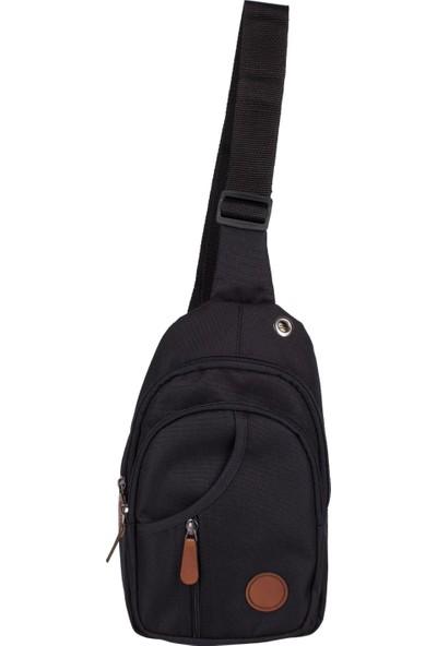 Bagacar 3474 Çapraz Göğüs Body Bag ve Sırt Çantası Siyah