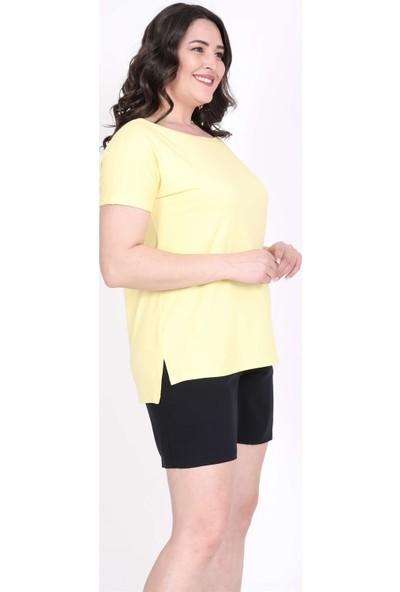 Myline Karmen Yakalı Tişört 45551