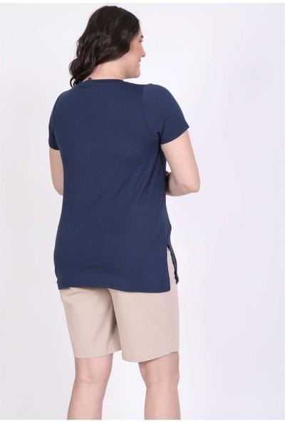 Myline V Yakalı Tişört