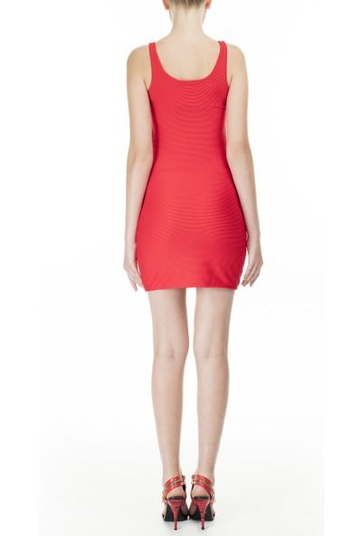 Emporio Armani Askılı Kare Yaka Mini Elbise
