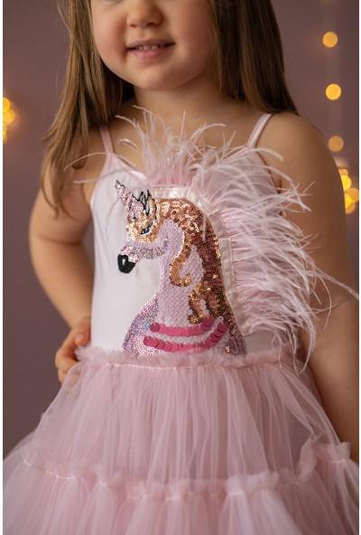 Pixy Love Pembe Kız Çocuk Elbise Pony Unicorn