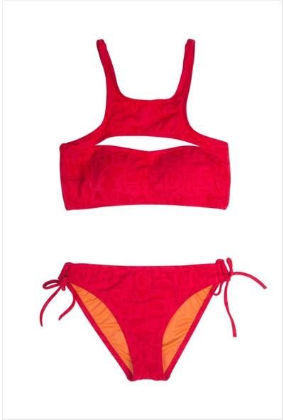 Ayyıldız Kız Çocuk Bikini Takımı 2402-2 Kırmızı