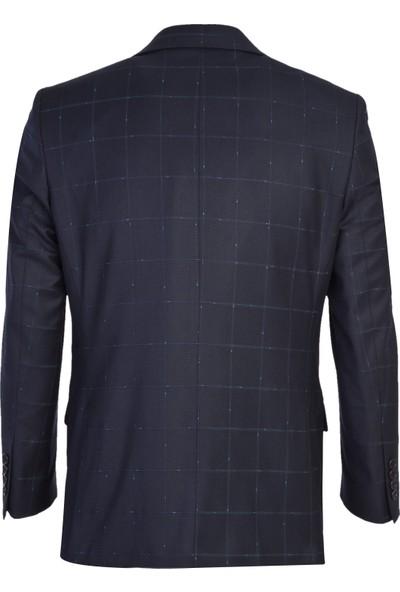 Kiğılı Yelekli Desenli Takım Elbise