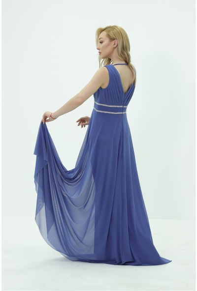 Fistan Abiye 6627 Mavi