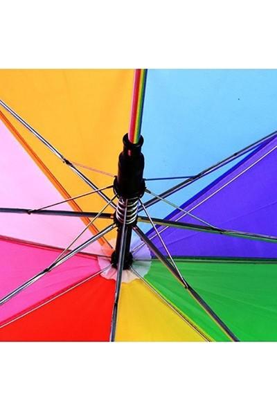 İstoç Yapı Market Baston Gökkuşağı Renk Çocuk Şemsiyesi