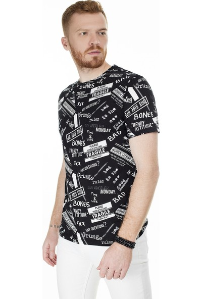 John Frank Erkek T Shirt Jftmc05 Grunge