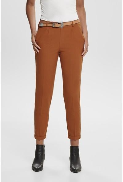 Only Kadın Siyah Paçası Bilekte Katlamalı Kumaş Pantolon 15187718