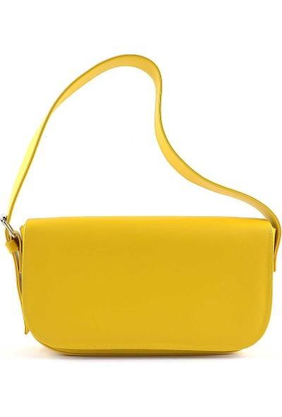 Allure Sarı Kapaklı Baget Çanta