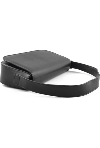 Allure Siyah Kapaklı Baget Çanta