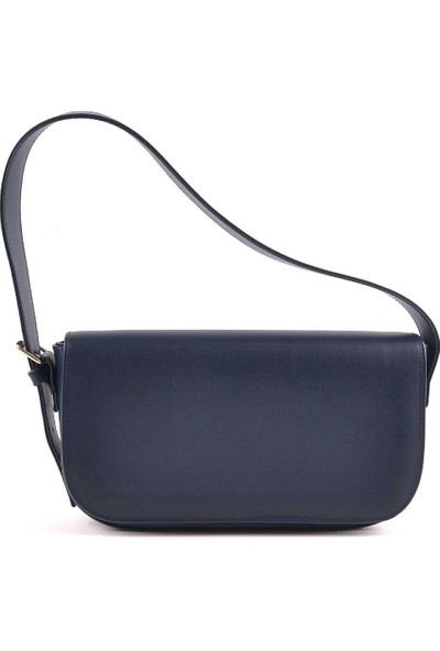 Allure Lacivert Kapaklı Baget Çanta
