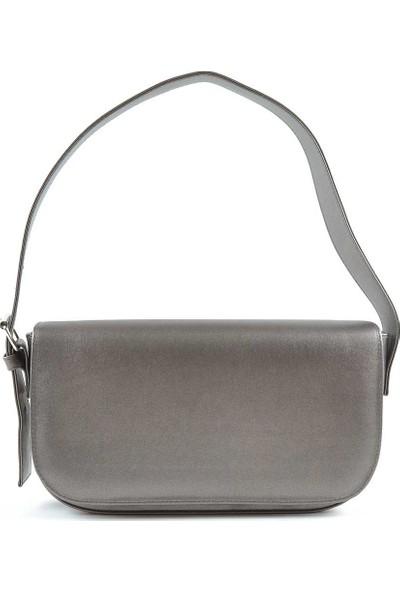 Allure Platin Kapaklı Baget Çanta