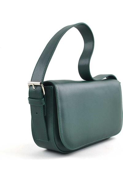 Allure Yeşil Kapaklı Baget Çanta