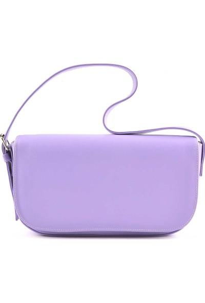 Allure Lila Kapaklı Baget Çanta